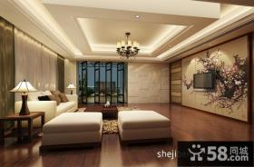 中式客厅不规则吊顶