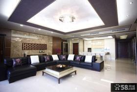现代家装设计室内客厅吊顶效果图