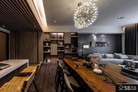 美式日式家庭设计餐厅效果图