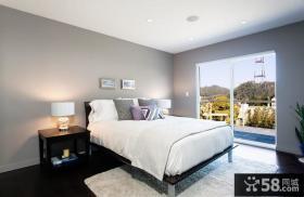 90平米小户型简约风格卧室飘窗装修效果图