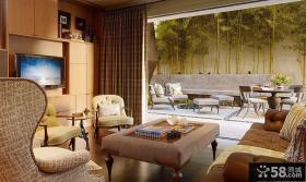 美式风格客厅电视背景墙效果图大全