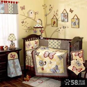 美式风格婴儿房效果图