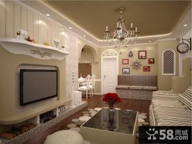 浪漫婚房地中海室内电视背景墙装修效果图大全2014图片