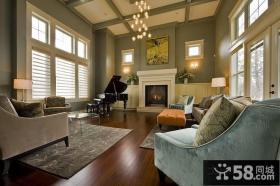 有一点点现代感觉的古典欧式风格客厅吊顶装修效果图大全2012图片