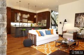 复式楼装修效果图 客厅家居装修设计
