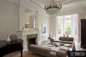 欧式客厅水晶灯吊顶设计图