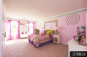 粉色主卧室装修效果图大全2013图片