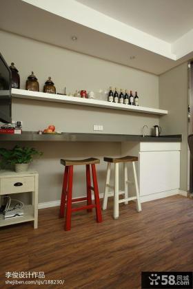 现代美式风格厨房置物架图片