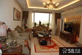 美欧风格设计客厅飘窗图片