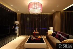 现代中式80平米小户型客厅装修效果图
