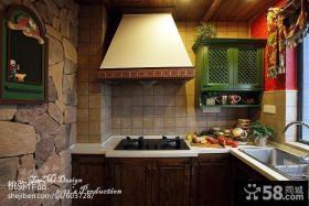 美式乡村厨房瓷砖效果图欣赏