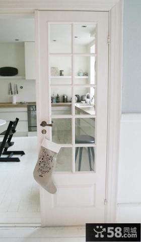 欧式厨房隔断门效果图