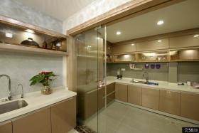 现代风格家居整体厨房装修图