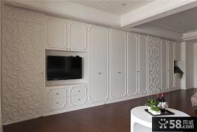 欧式风格卧室电视背景墙设计效果图