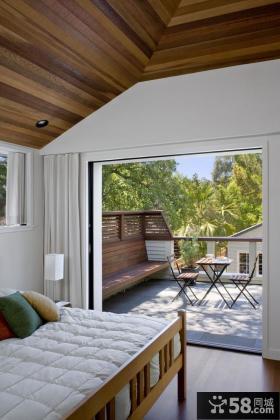 卧室阳台装修效果图 卧室阳台装饰