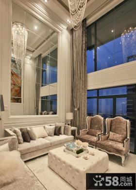 客厅沙发玻璃背景墙效果图
