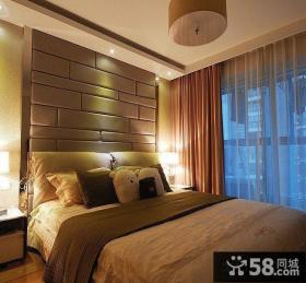 卧室软包床头背景墙装修效果图