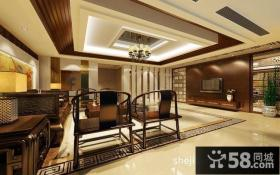 中式装修设计效果图客厅吊顶图片