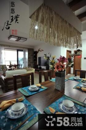 中式风格餐厅装修效果图大全2013图片