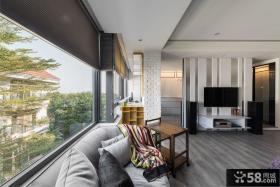现代公寓室内电视背景墙家装图片