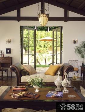美式田园风格家具客厅效果图