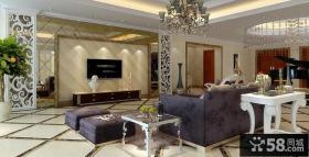 欧式豪华客厅电视背景墙装修效果图