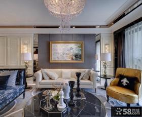 新古典美式风格四居室图片欣赏大全