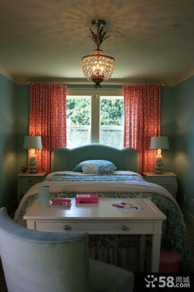 2012卧室窗帘图片 欧式卧室吊顶装修效果图