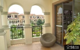 欧式风格开放式阳台装修效果图大全2012图片