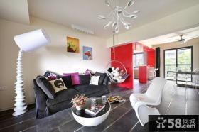 现代客厅吊顶沙发摆设效果图欣赏