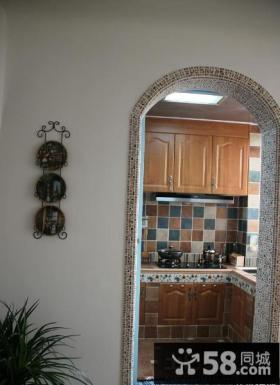 地中海风格马赛克厨房门图片
