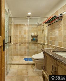 美式田园风格别墅卫生间设计
