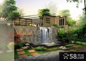联排别墅庭院设计效果图2014