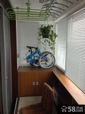 美式风格室内设计阳台效果图2015