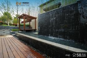 2013别墅花园木地板装修效果图