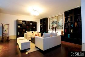 中式现代风格别墅装饰设计效果图