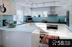 145平米复式楼装修效果图 简约清新的厨房