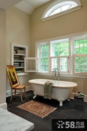美式风格卫生间家具图片