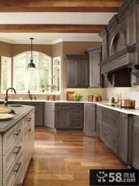 美式厨房装修图片大全欣赏2014