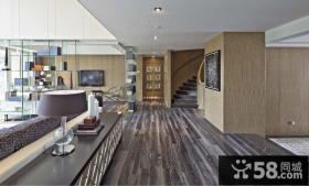 150万搞定豪华后现代装修风格客厅博古架图片