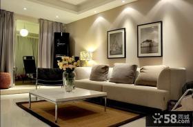 简约小户型客厅沙发装修图片
