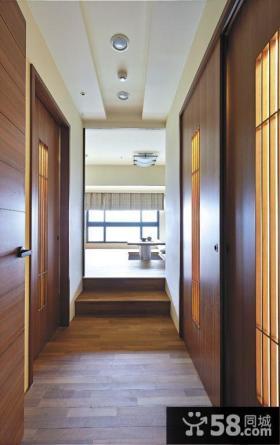 现代日式风格过道吊顶图欣赏大全