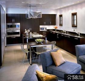 现代简约风格室内设计厨房整体橱柜效果图