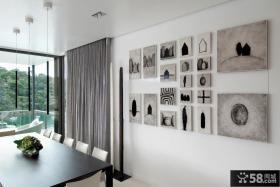 简约风格餐厅背景墙装修效果图大全2012图片