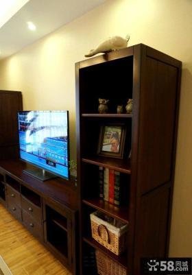 最新美式风格客厅实木电视柜效果图