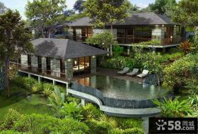 豪华庭院别墅设计效果图