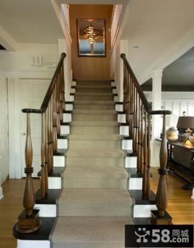 美式家装设计楼梯效果图欣赏