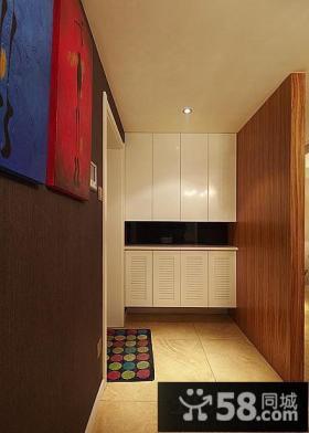 家居玄关鞋柜装饰效果图片