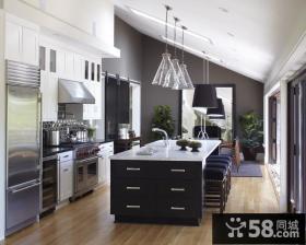 复式楼现代风格厨房装修效果图大全2014片