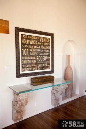 美式装饰客厅玄关装修效果图